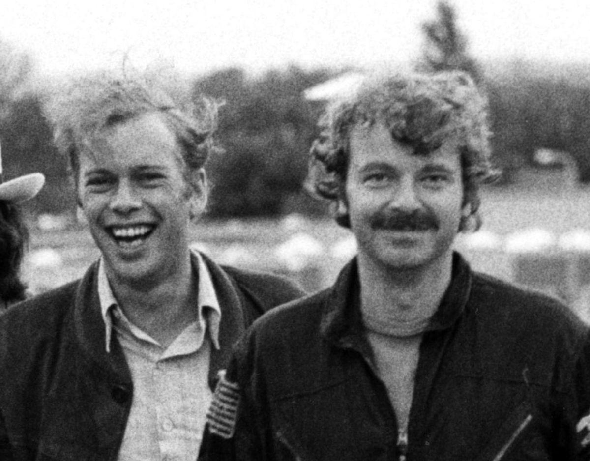 Bosse Hall Christensen og Michael Bundesen i 1979. Foto: Scanpix