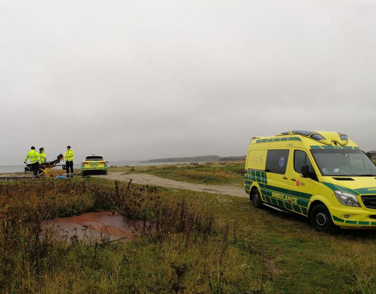 Manden blev erklæret død på stedet. Foto: Presse-fotos.dk.