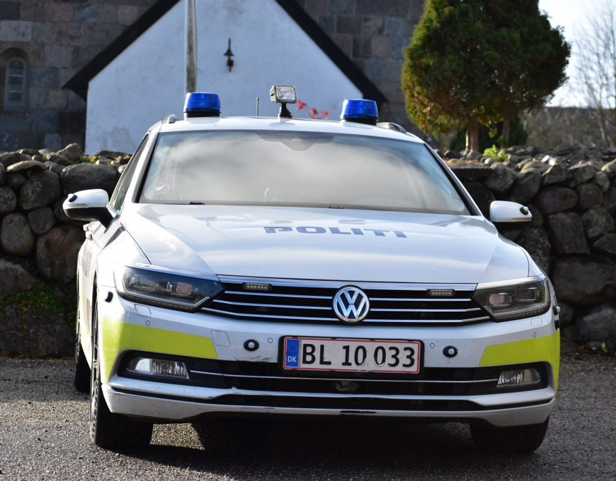 Manden blev anholdt uden dramatik. Foto: Øxenholt Foto.