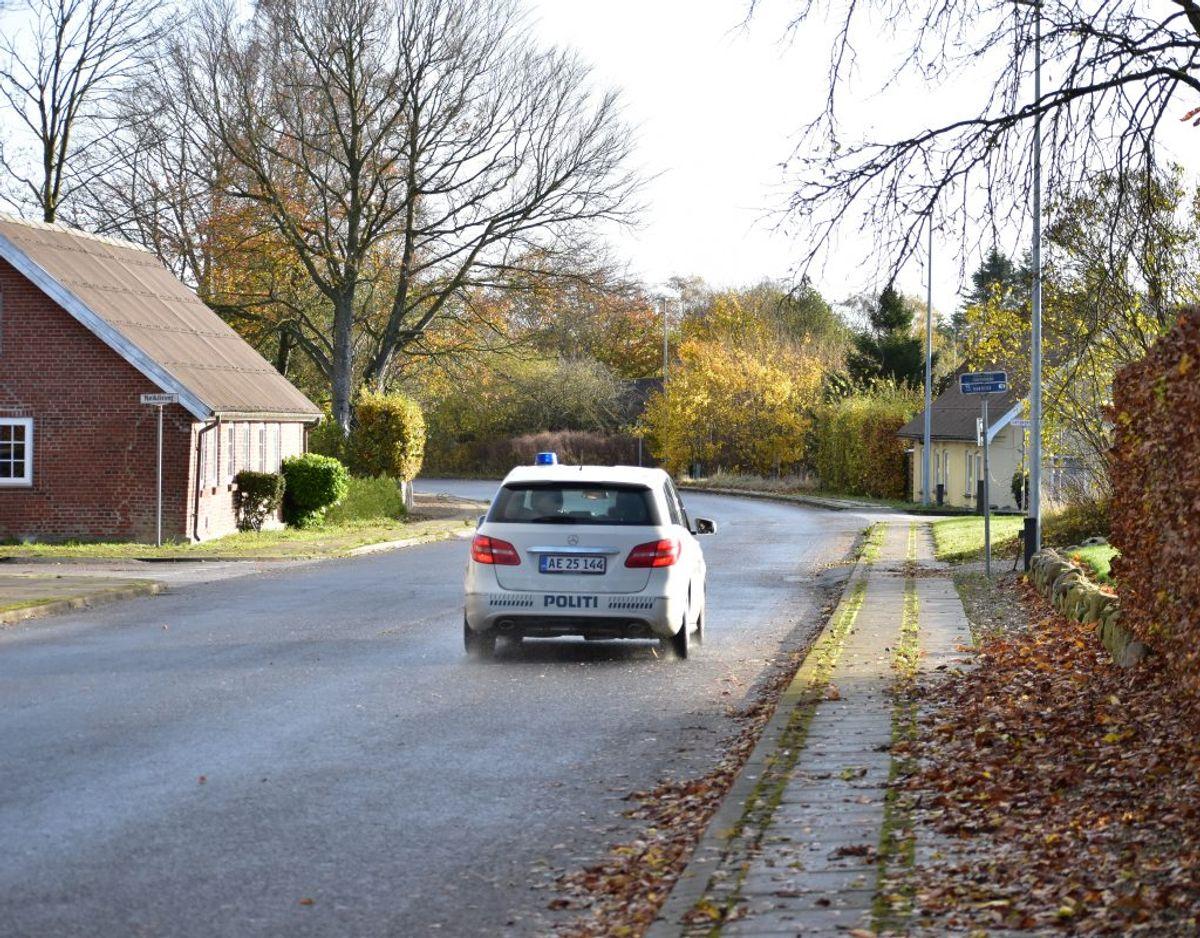 Manden blev anholdt onsdag formiddag klokken 10.01. Foto: Øxenholt Foto.