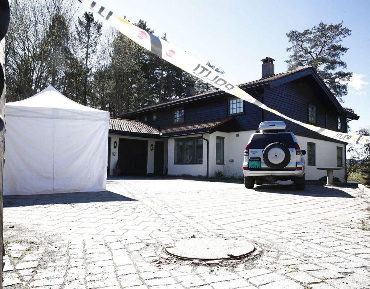 Norsk Politi har oplyst, at der fortsat er en del efterforskningstrin, der skal gennemføres i Tom Hagens bolig samt i andre af de boliger, som han ejer. Foto: Terje Pedersen / NTB scanpix