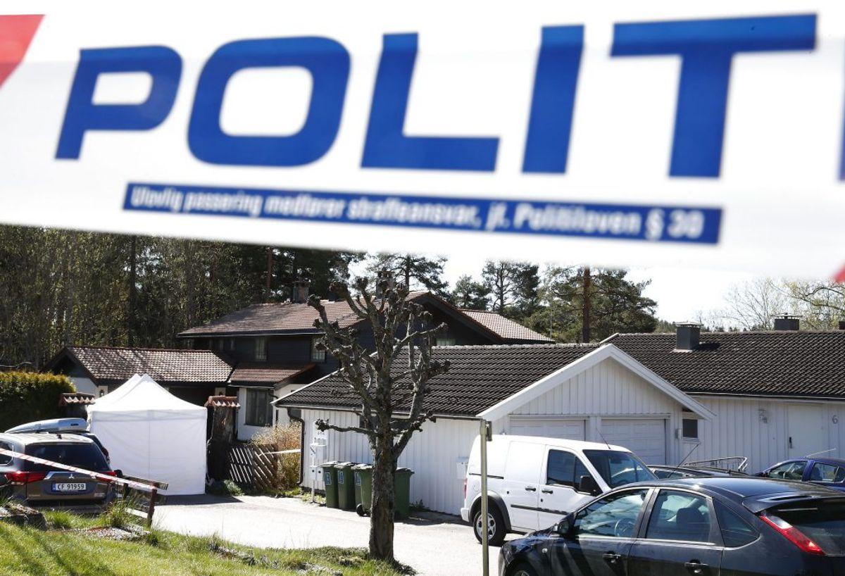 Politiet leder efter spor. Foto: Terje Pedersen / NTB scanpix