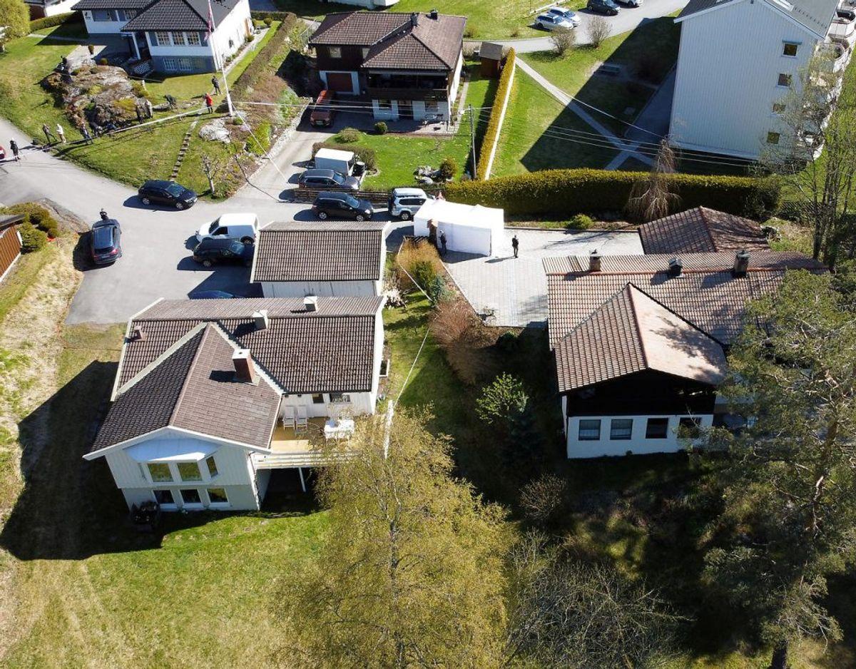 Politiet har undersøgt Tom Hagens hjem, siden han blev anholdt og sigtet i slutningen af april. Foto: NTB Scanpix/Tore Meek via REUTERS