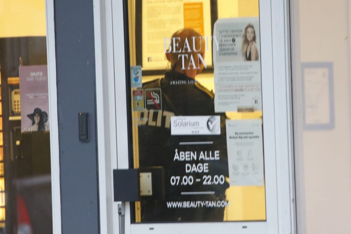 Politiaktion i Grindsted fredag. KLIK FOR FLERE BILLEDER. Foto: René Lind Gammelmark
