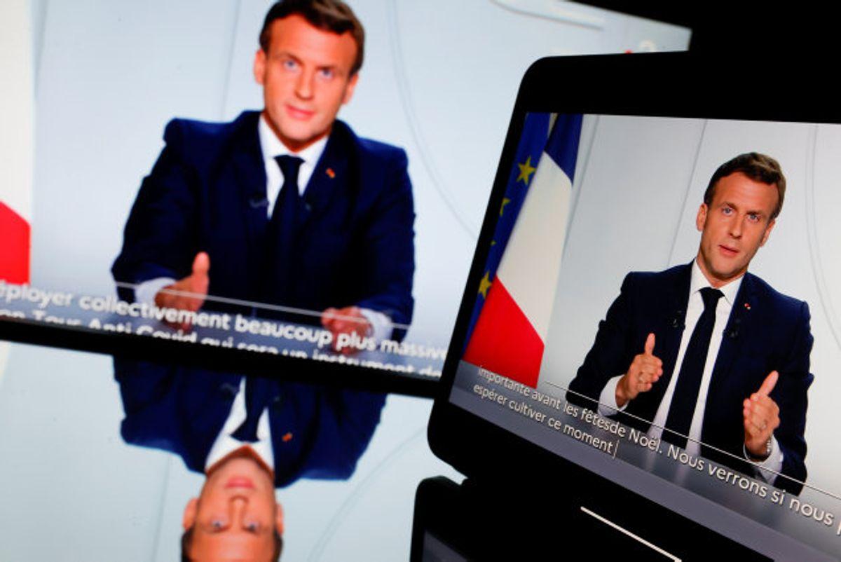 Frankrigs præsident, Emmanuel Macron, siger, at Frankrig lukker ned igen fra fredag for at bremse spredningen af coronavirus. Foto: Christian Hartmann/Reuters