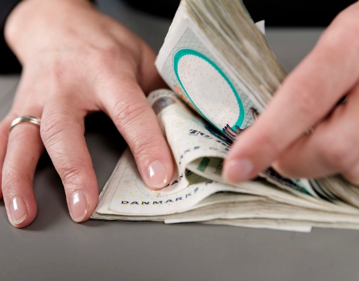 Årlig indkomst før skat: 200.000 – udbetaling på 9000 kroner efter skat.