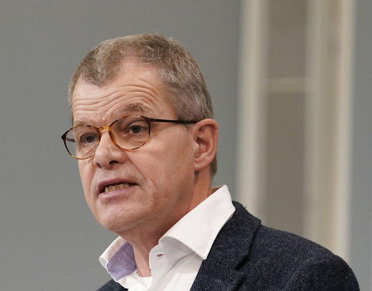 Kåre Mølbak deltog i aftenens pressemøde. Foto: Scanpix.
