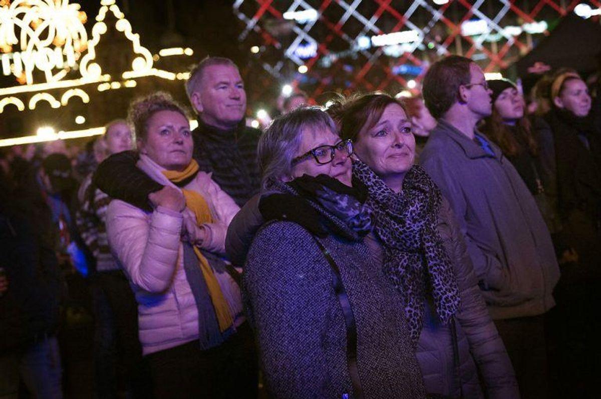 Mindekoncert for Kim Larsen på Rådhuspladsen søndag den 7 oktober 2018. (Foto: Liselotte Sabroe/Scanpix 2018)