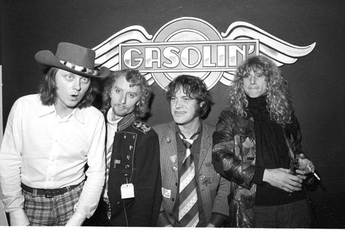 Gasolin. Fra venstre: Wili Jønsson, Franz Beckerlee, Kim Larsen og Søren Berlev.