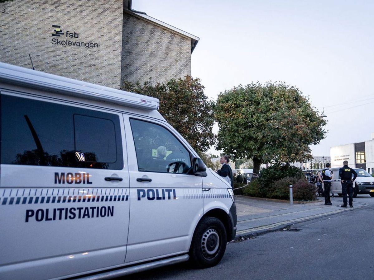Politiets mobile politistation på Mørkhøjvej. (Foto: Mads Claus Rasmussen/Ritzau Scanpix)