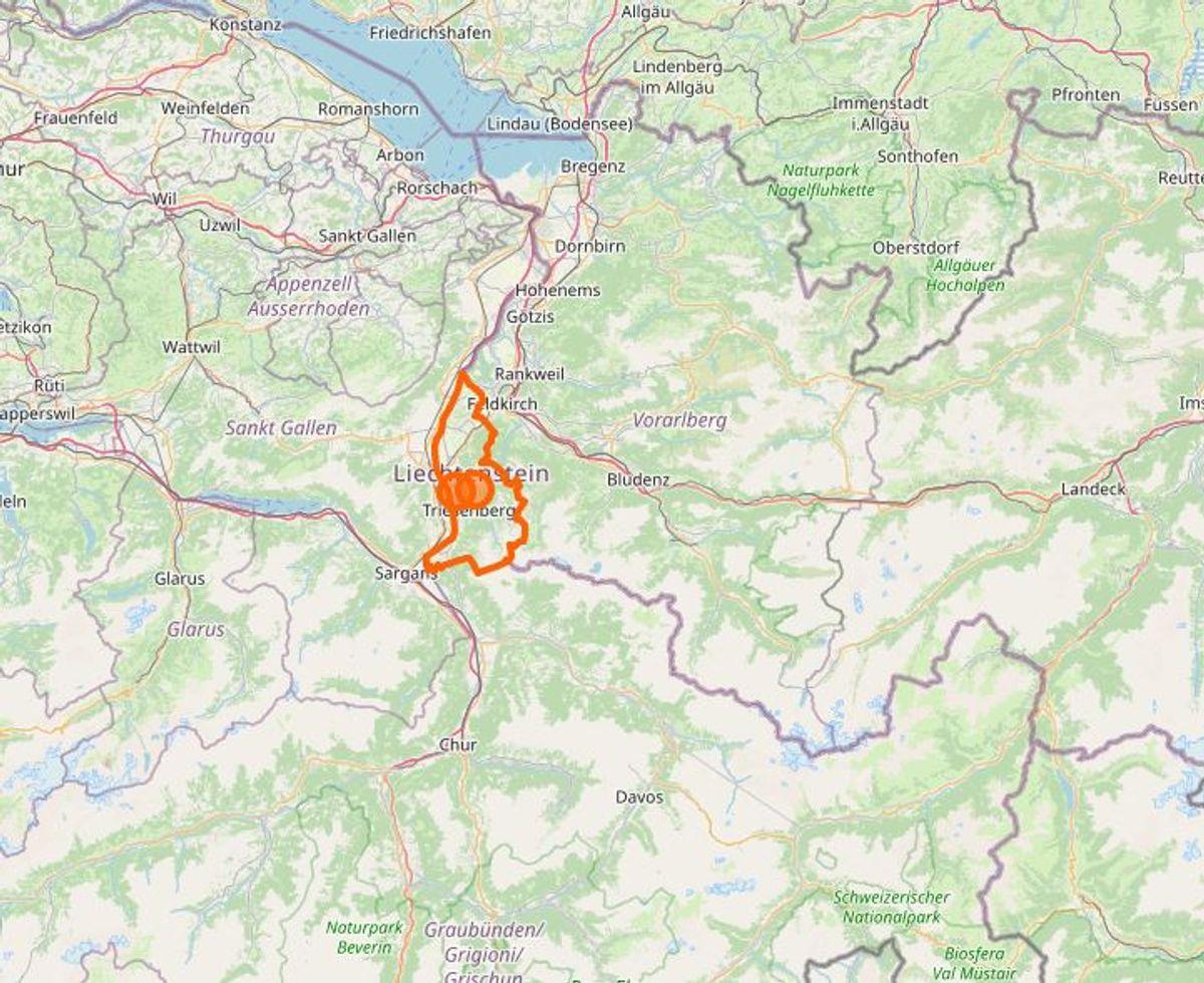 Liechtenstein. Foto: Openstreetmap.org