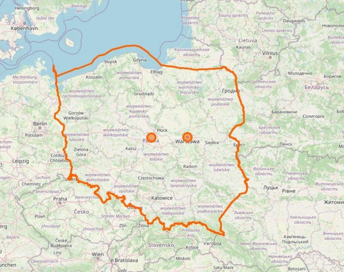 Polen. Foto: Openstreetmap.org
