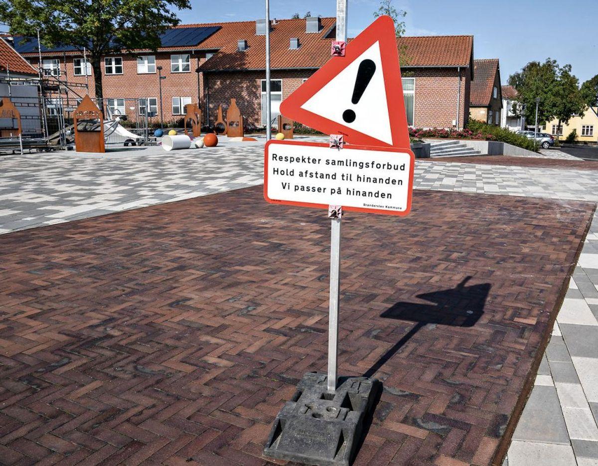 I Brønderslev Kommune har der de seneste syv dage været 55 smittetilfælde. Det svarer til en incidens på 152 per 100.000 indbyggere. Den officielle bekymringsgrænse er 20. Foto: Scanpix