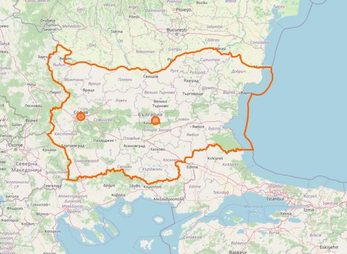 Bulgarien. Foto: Openstreetmap.org