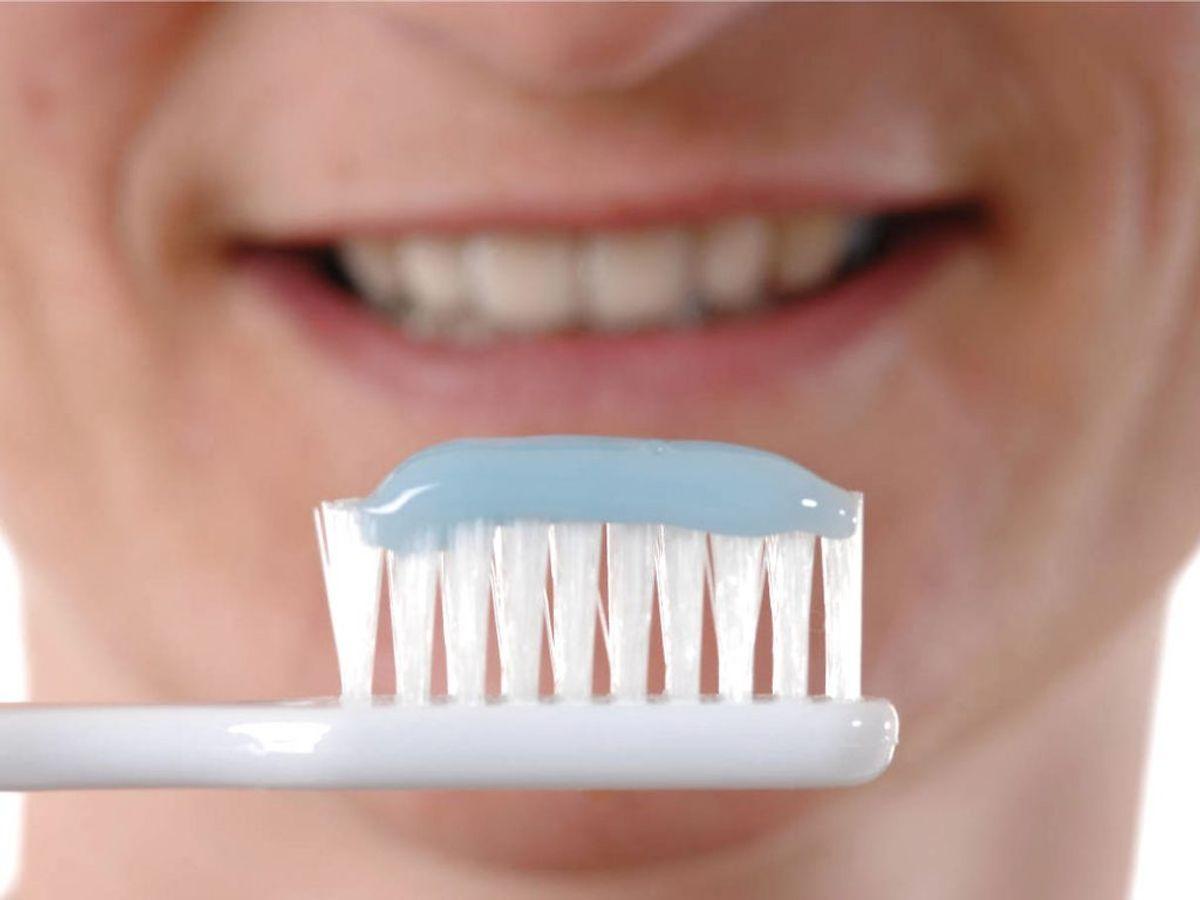 Din tandbørste kan indeholde et væld af bakterier, derfor skal du gøre den ren. KLIK VIDERE OG SE HVORDAN. Foto: Panthermedia/ Ritzau Scanpix