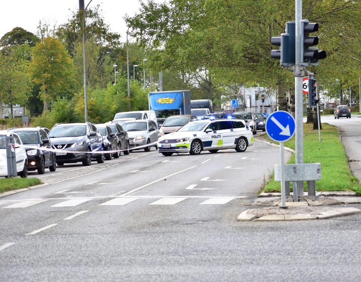 Ulykken skete tirsdag eftermiddag. Foto: Øxenholt Foto.
