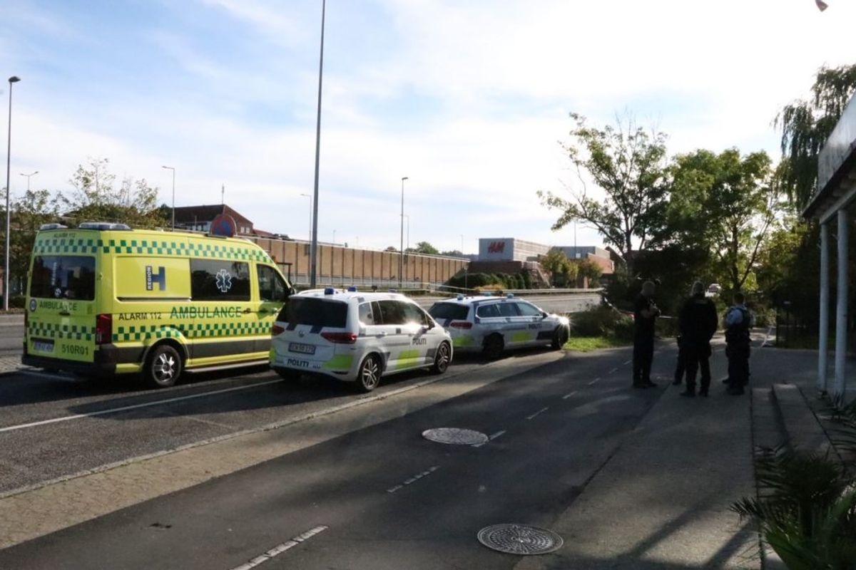 Politiaktion i Ballerup. Klik for flere billeder. Foto: Presse-fotos.dk