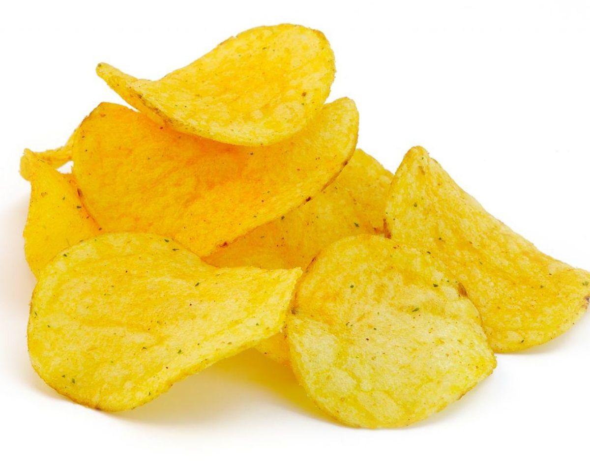 Chips (kan indeholde løg- og hvidløgspulver).