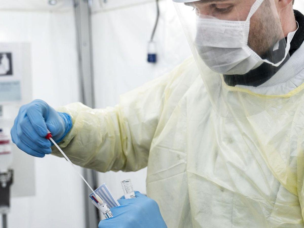 De 378 nye smittetilfælde stammer fra i alt 41.791 prøvesvar. (Foto: Niels Christian Vilmann/Ritzau Scanpix)