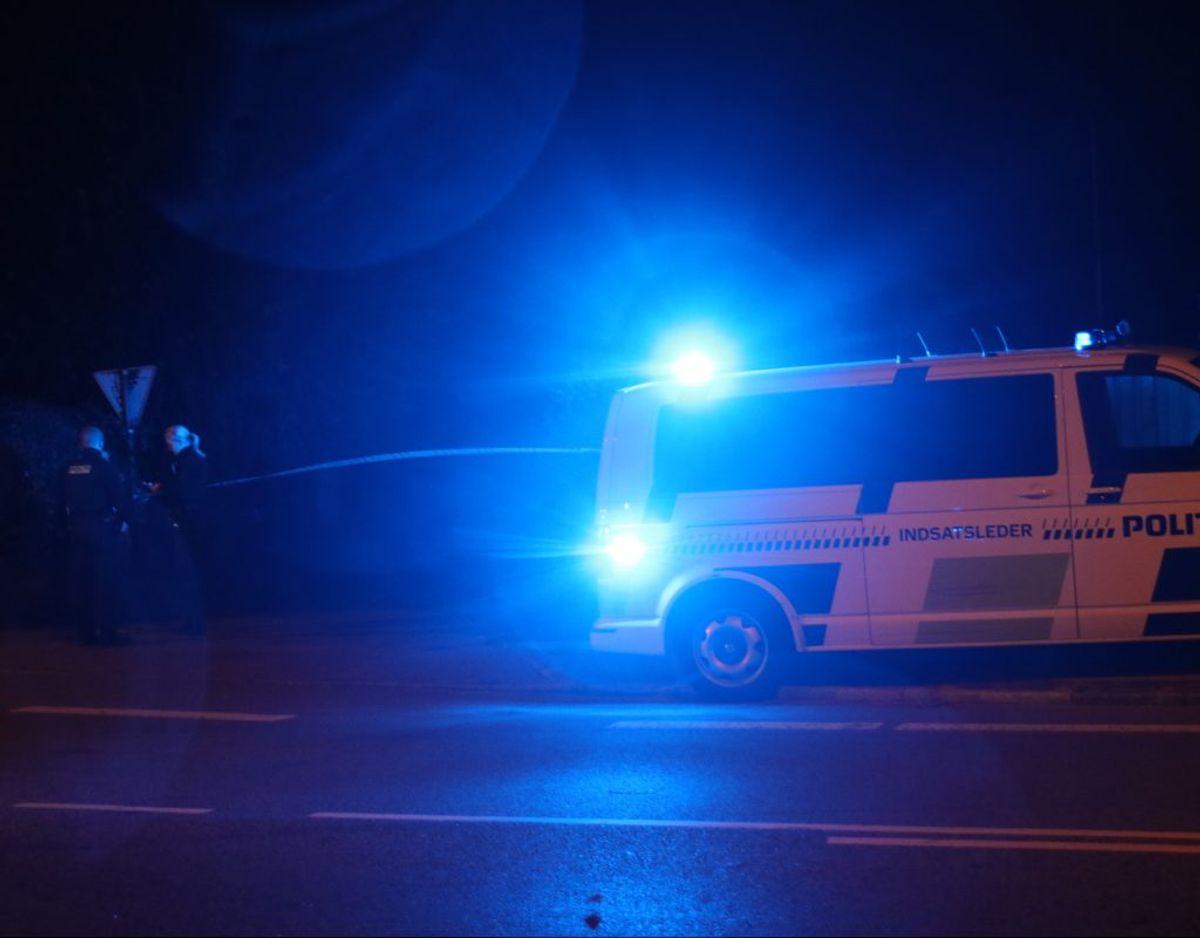 Politiet var massivt til stede i Nivå. Foto: Presse-fotos.dk