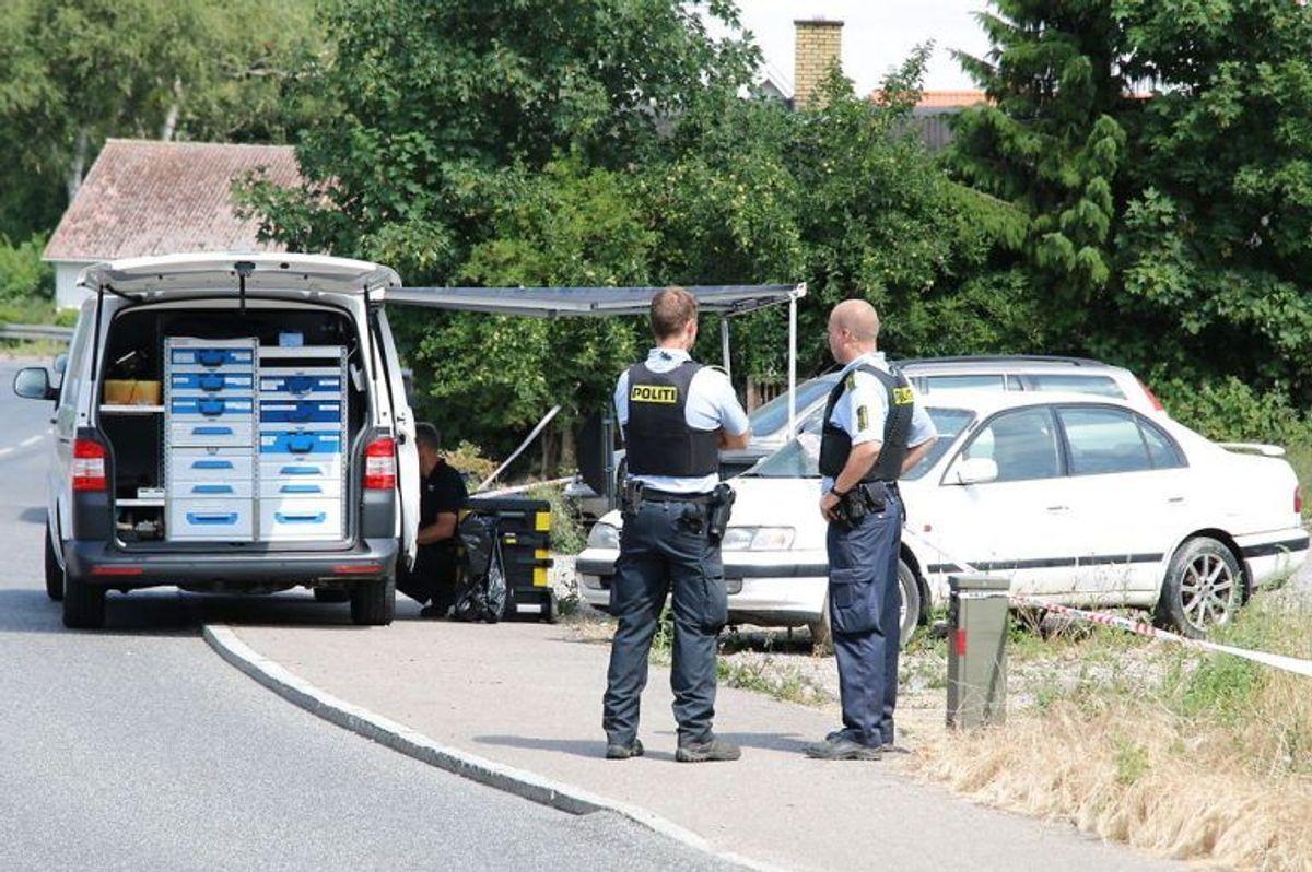 Politiet efterforsker søndag den 8. juli 2018 et drab, som blev begået på Mullerupvej 11 søndag morgen. Foto: Mathias Øgendal/Ritzau Scanpix