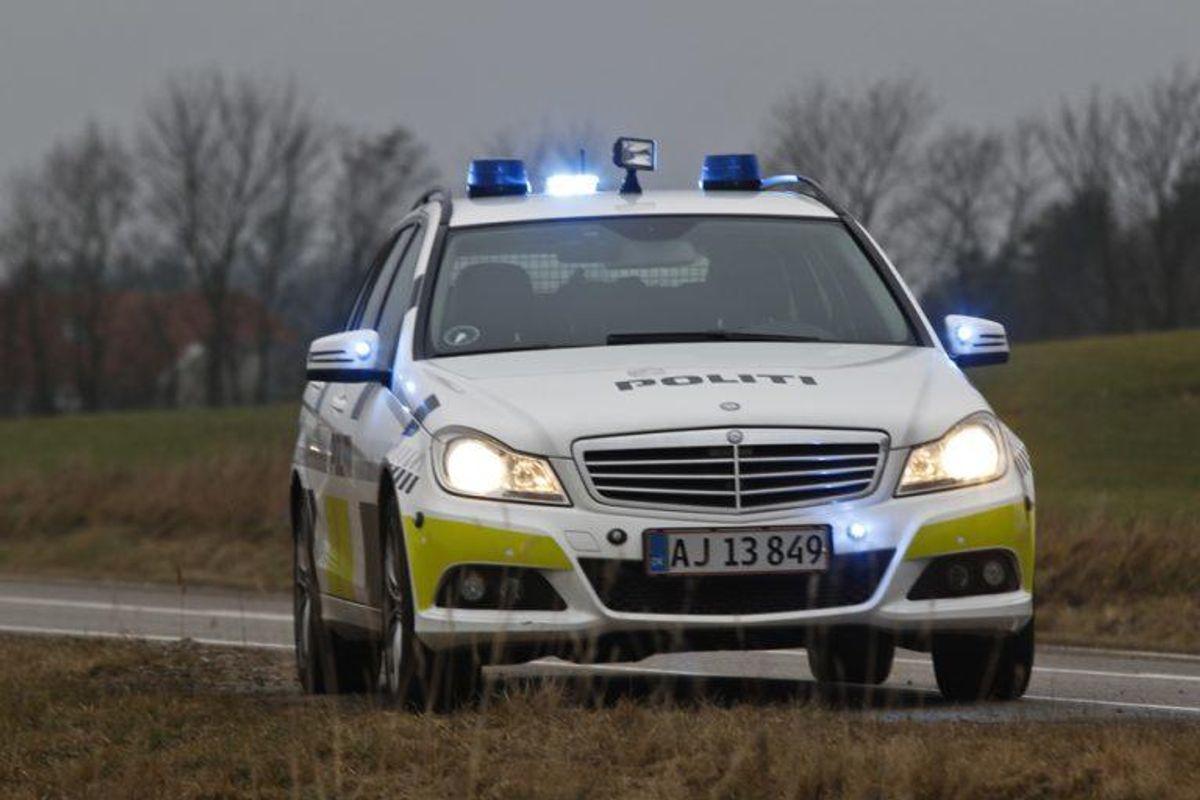 Mercedes Patruljevogn Politiet  Arkivfoto: René Lind Gammelmark