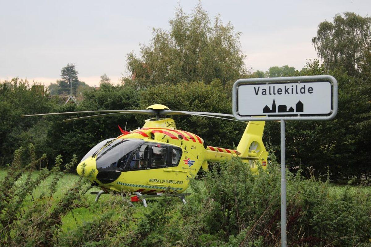 En 31-årig mand er onsdag blevet alvorligt kvæstet i en soloulykke. KLIK for flere billeder. Foto: Presse-fotos.dk.