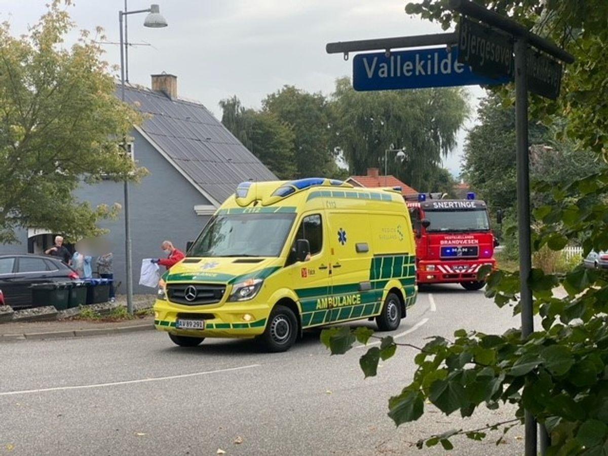 En 31-årig mand er onsdag blevet alvorligt kvæstet i en soloulykke. Foto: Presse-fotos.dk.