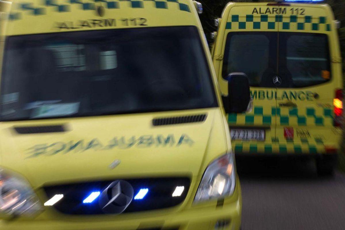 Ring 1-1-2, hvis du er i eller overværer en ulykke, hvor nogen er alvorligt tilskadekommen eller kan komme til skade. Kilde: Beredskabsstyrelsen. Arkivfoto.
