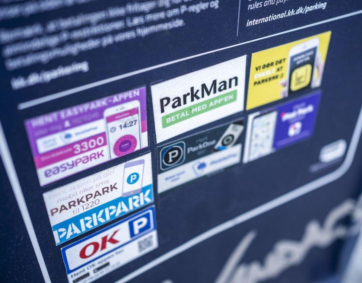 Parkeringstjenesten ParkPark, der blandt andet servicerer parkerende i København møder voldsom kritik. Foto: Scanpix