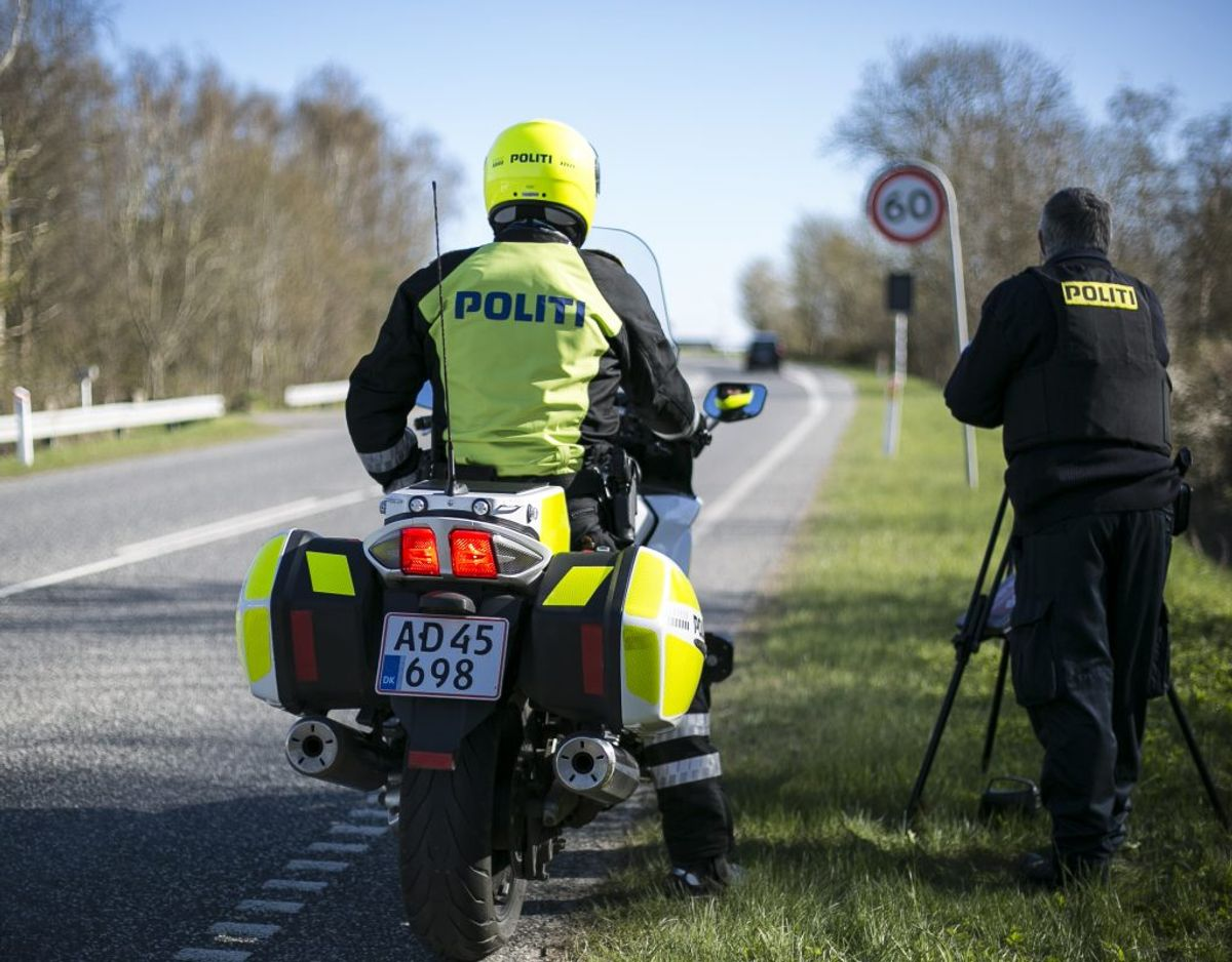 Fra mandag og en uge frem sætter politiet fokus på hastighedsovertrædselser. Foto: Rådet for Sikker Trafik.