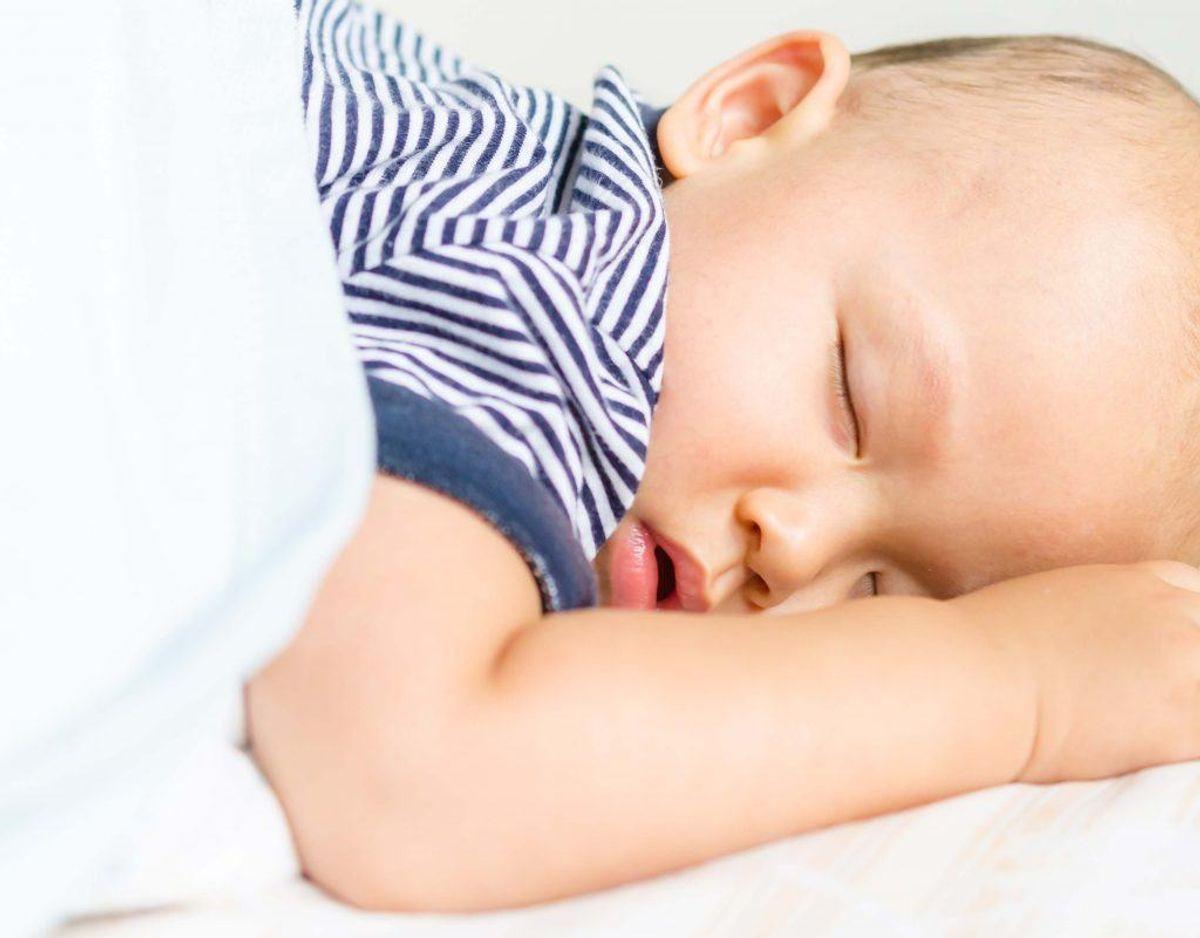 Et spædbarn sover normalt 16 timer i døgnet. Klik videre for flere billeder og oplysninger, Foto: Colourbox.