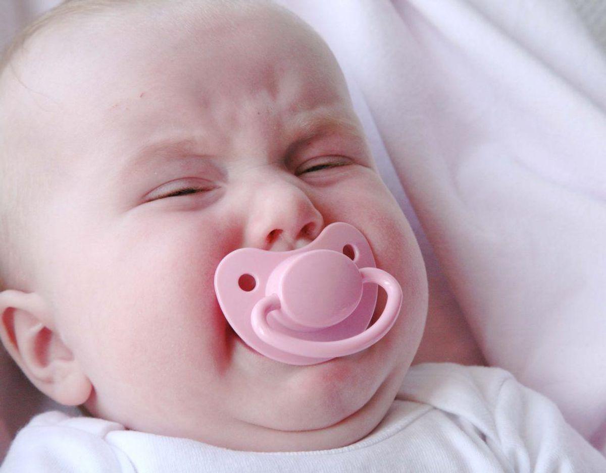 Et spædbarn græder tidligst ægte tårer tre uger efter fødslen. I nogle tilfælde kan det vare op til fem måneder. Klik videre for flere billeder og oplysninger, Foto: Colourbox.