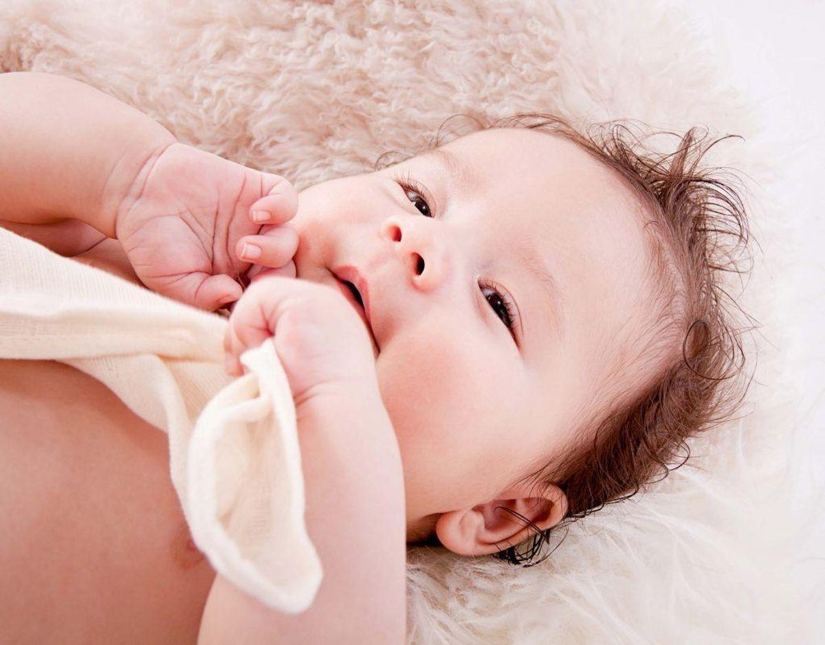 Et spædbarn har cirka 10000 smagsløg. Foto: Colourbox.