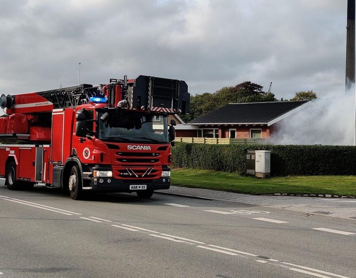 Branden blev hurtigt slukket. Foto: Presse-fotos.dk
