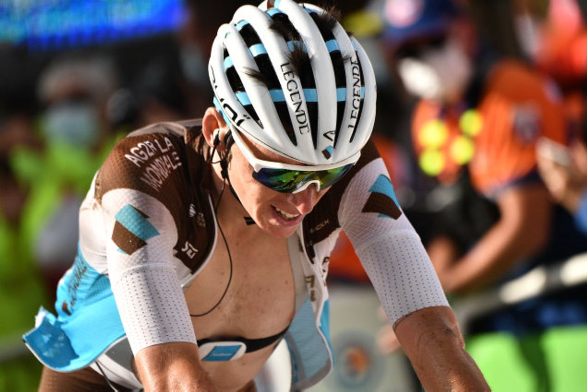 AG2R-håbet Romain Bardet er færdig i årets Tour de France. Foto: Anne-Christine Poujoulat/Reuters