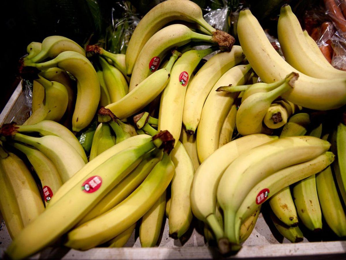 Overmodne frugter. For eksempel bananer med brune pletter. Kilder: Sundhedscoach Gitte Hildebrandt og Dansk Hovedpinecenter. Foto: Scanpix.