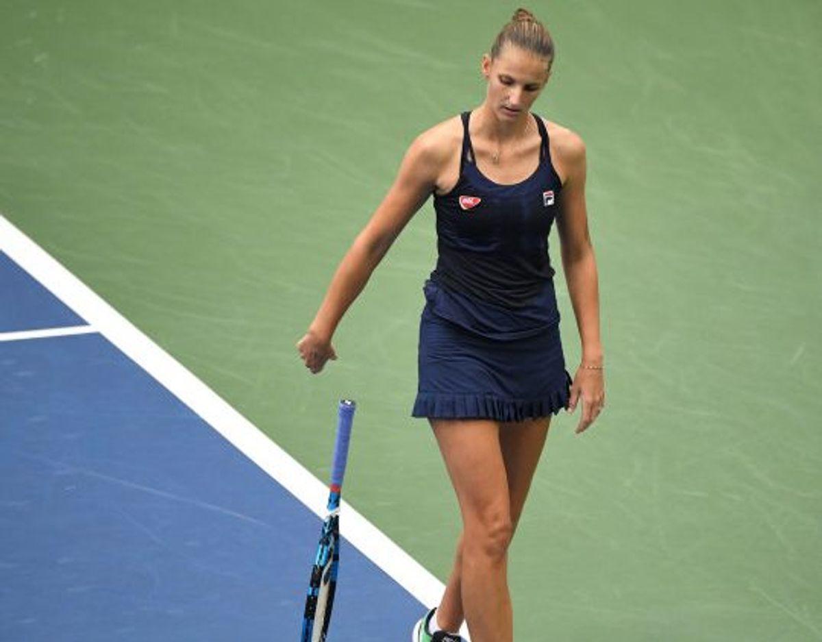 Plísková var langtfra tilfreds med spillet mod franske Caroline Garcia. Foto: Danielle Parhizkaran/Scanpix