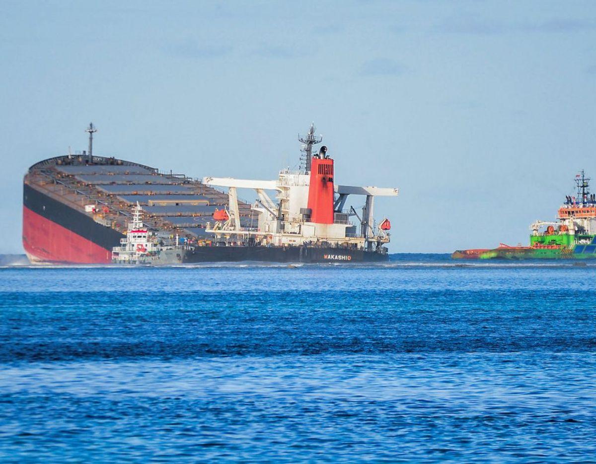 Skibet stødte på grund den 25. juli. Foto: Scanpix