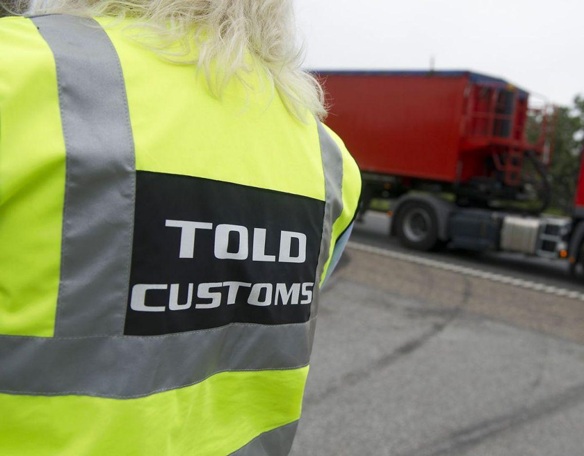 Manden blev stoppet ved Frøslev. Foto: CLAUS FISKER/Scanpix