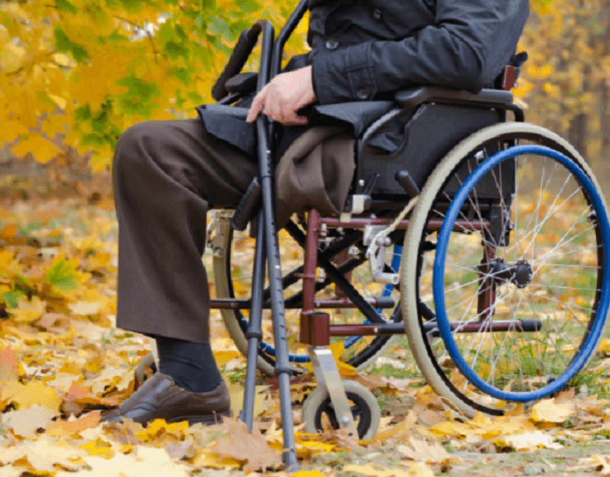 Også personer med handicap er i risikogruppen. Foto: Colourbox.