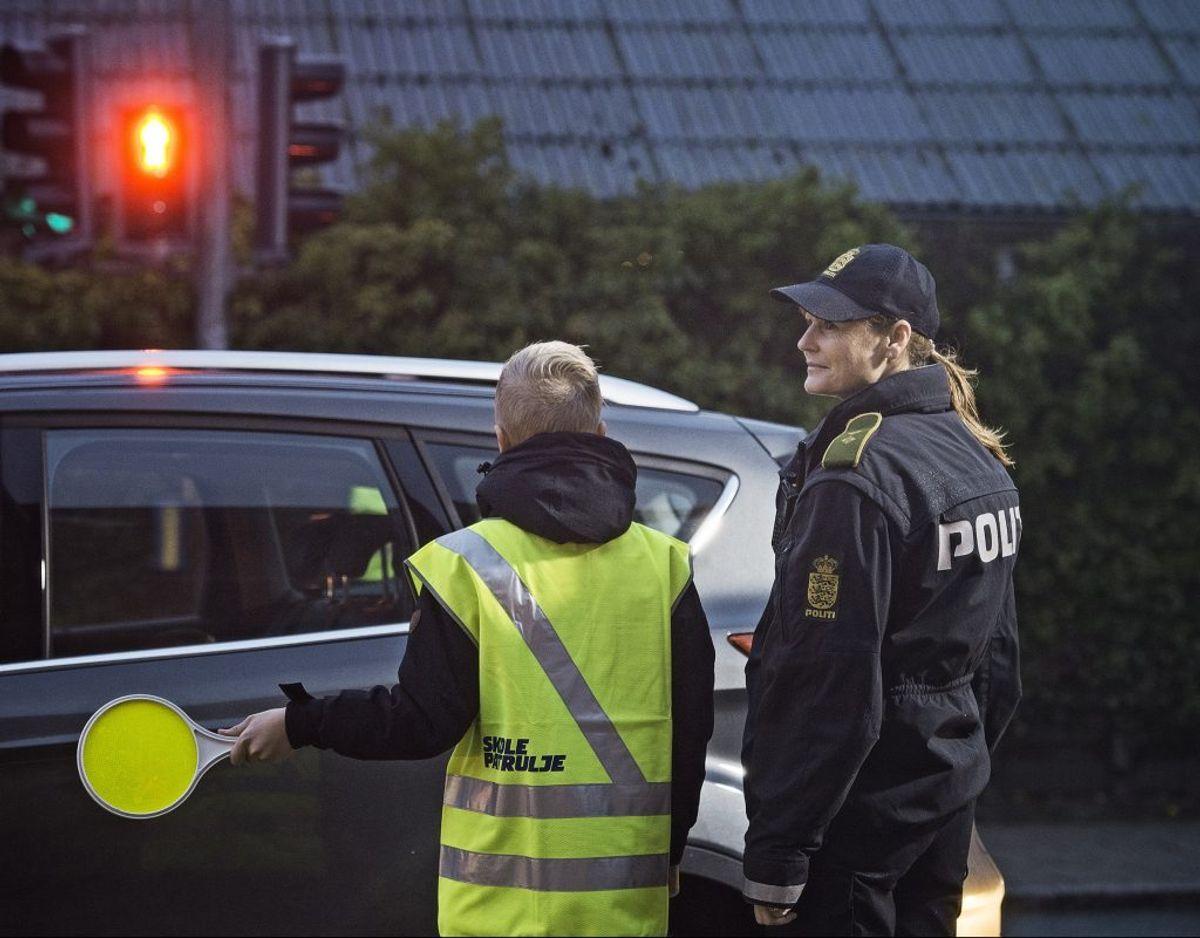 Politiet har fokus på trafikken ved skolerne. Foto: Rådet for Sikker Trafik