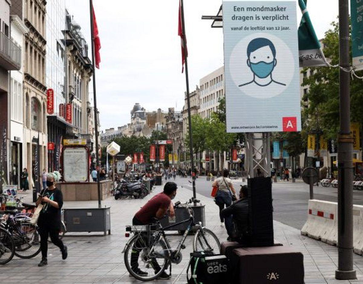 De seneste uger har der været stigende smitte i Belgien, hvilket især har ramt Antwerpen. (Arkivfoto) Foto: Bart Biesemans/Reuters