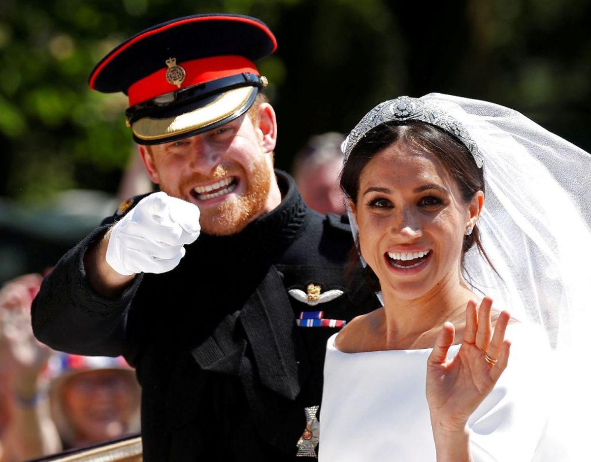 Meghan og Harra gav hinaden deres ja den 19. maj 2018 ved en strslået ceremoni i St George's Chapel på Windsor Castle. Foto: Scanpix/REUTERS/Damir Sagolj TPX