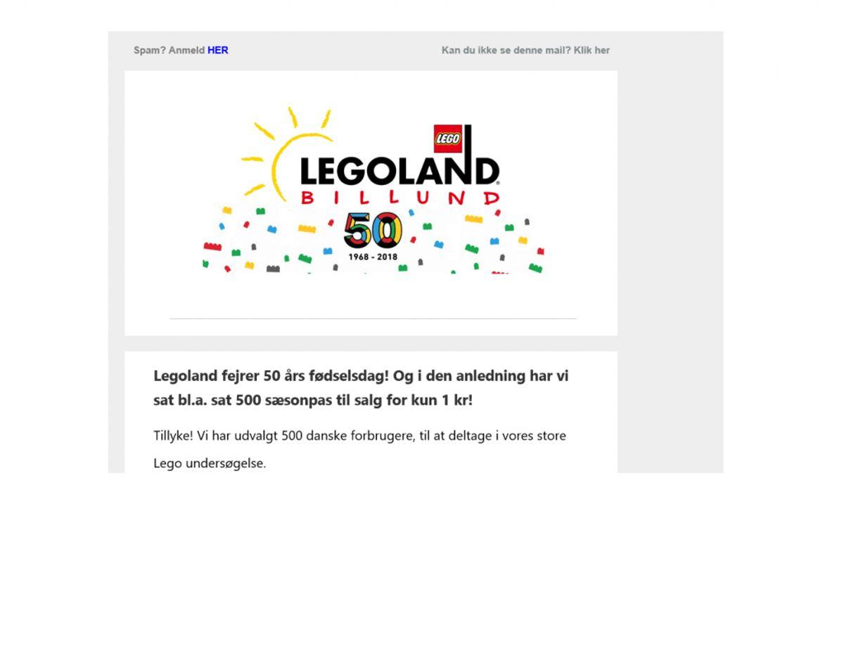 Her er toppen af den mail, du skal slette. Newsbreak har fået bekræftet, at den ikke er ægte.  Screenshot