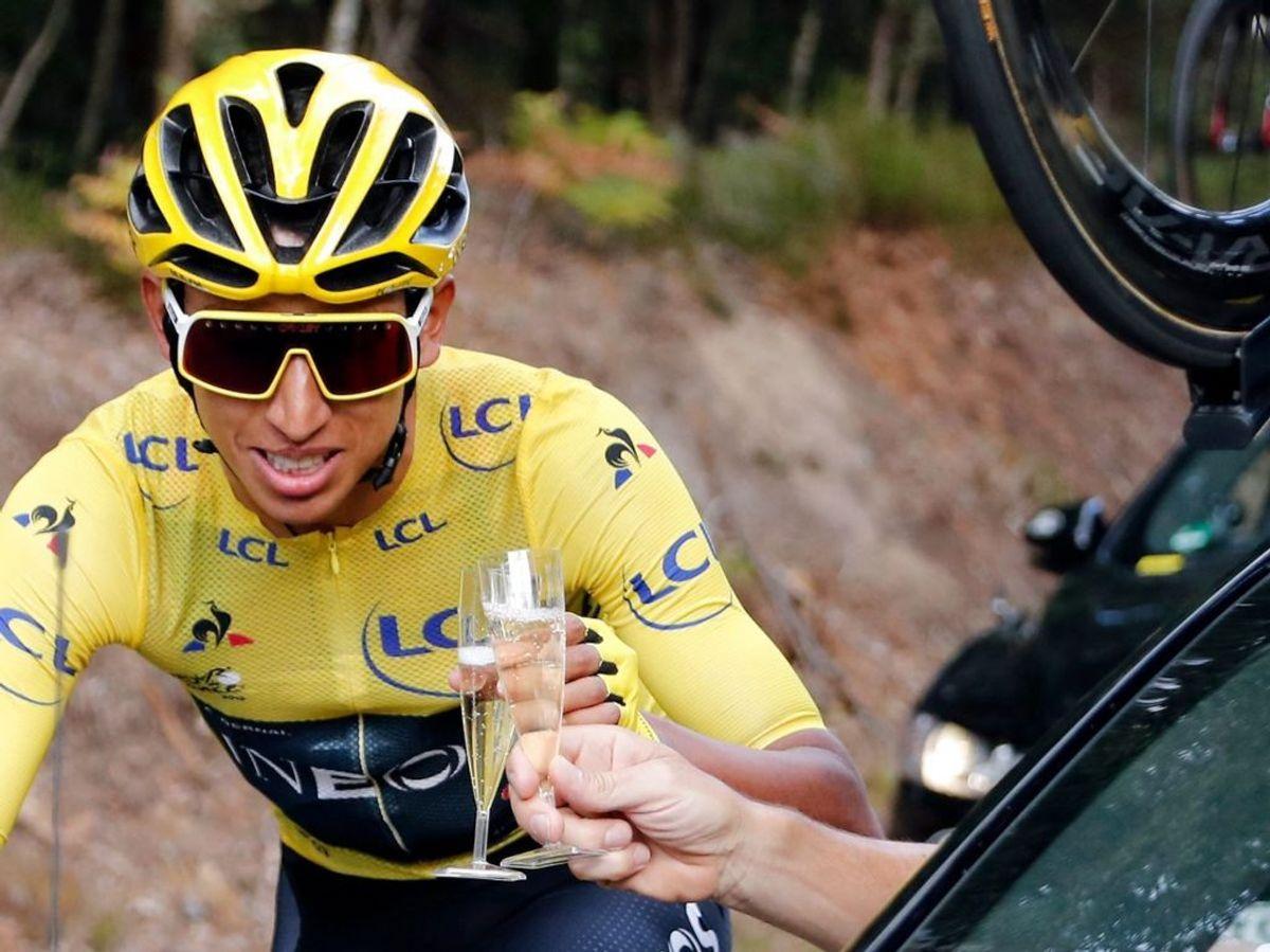 Det bliver først i 2022 at vi kommer til at se Egan Bernal og de andre cykelstjerner til Tour de France i Danmark. Arkivfoto: Scanpix.