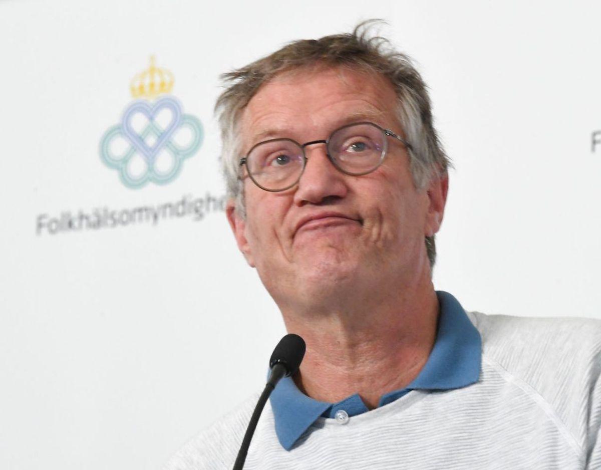 Sveriges efterhånden godt kendte statsepidemiolog Anders Tegnell har måttet høre på meget. Både ris og ros. Foto: TT News Agency/Fredrik Sandberg