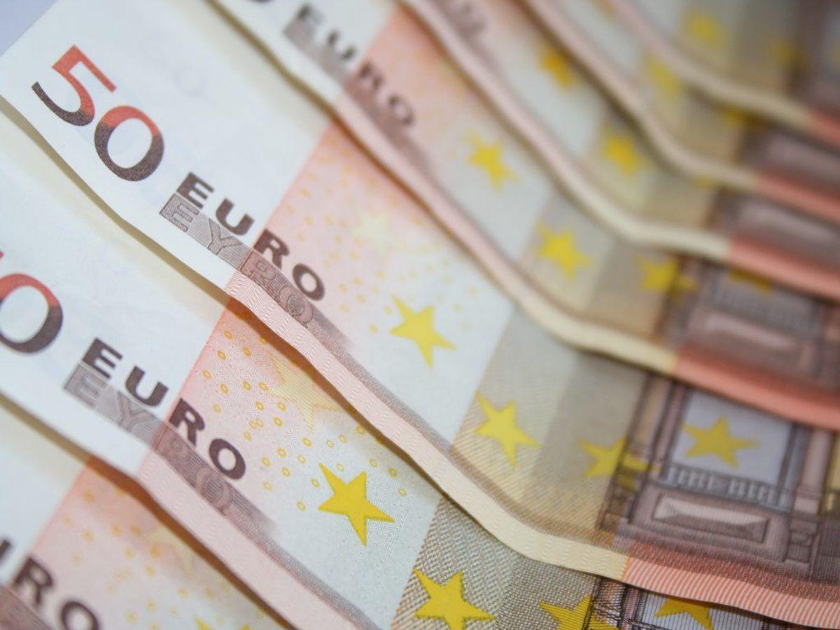 Det var falske 50 euro-sedler politiet har fundet på manden. Arkivfoto: Scanpix.