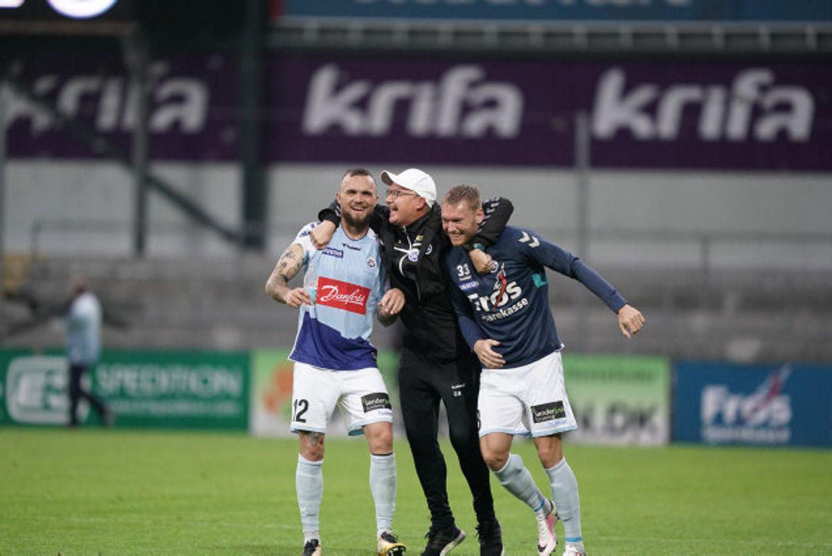 Sønderjyske spiller også i Superligaen i næste sæson. Foto: Claus Fisker/Scanpix