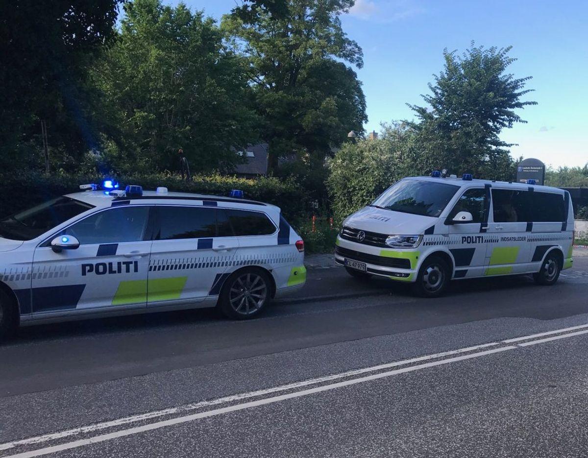 Nordsjællands Politi skulle torsdag undersøge, hvilke kemikalier der er blevet brugt til rengøringen. Foto: Presse-fotos.dk